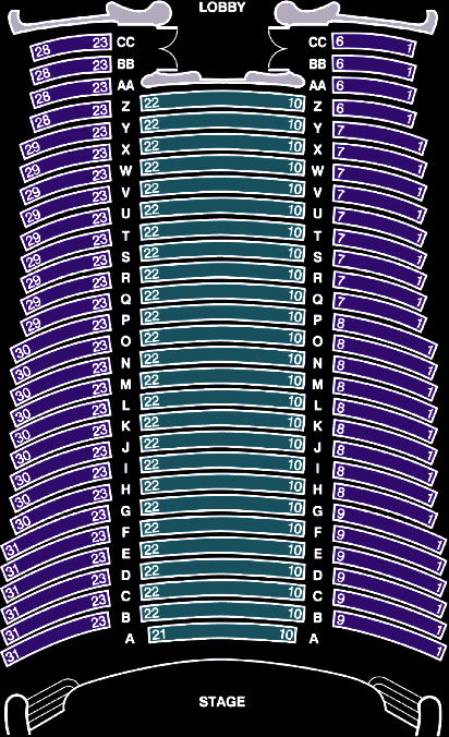 Tower theatre seating chart fresno ca